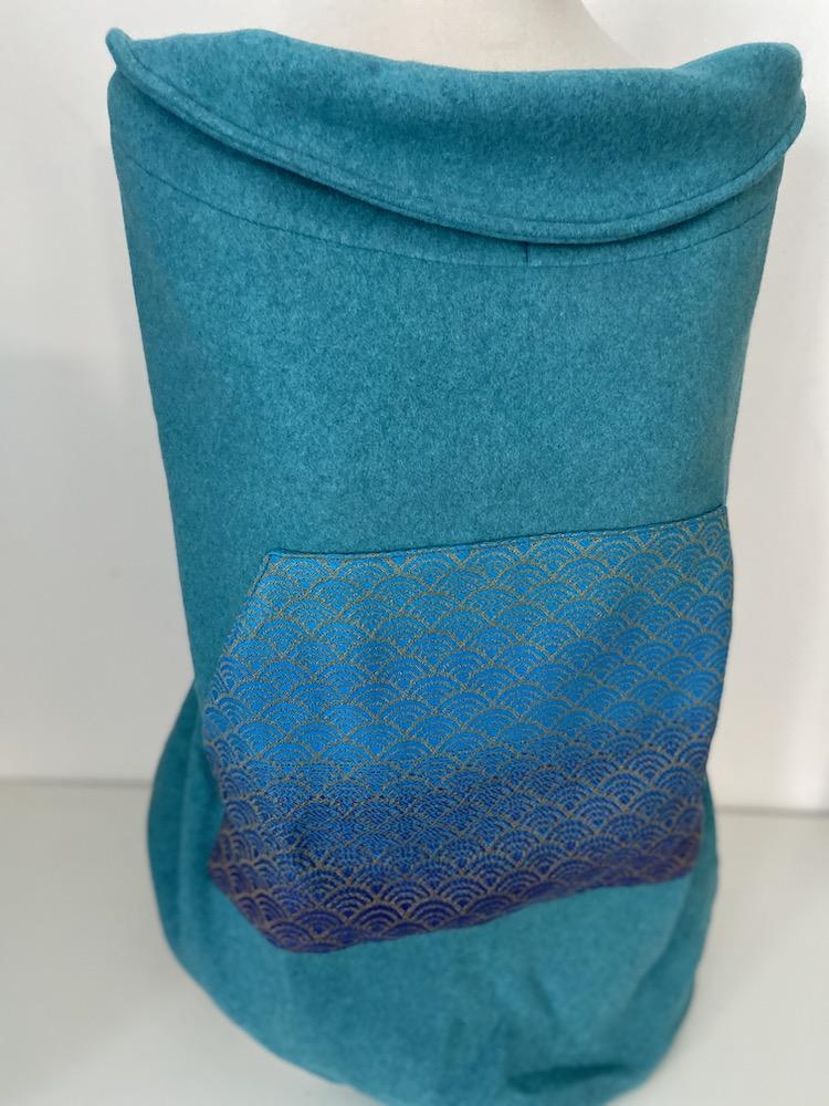 Tragecover - Baumwollfleece - Sekai Sail blau