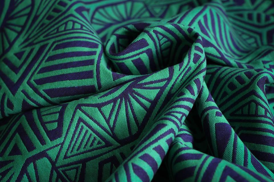 Urban Geo Contra Green-Blue Wool
