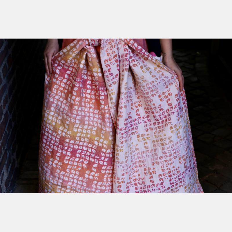 Yaro Tragetuch -  Petals Ultra Caramel Rainbow Linen