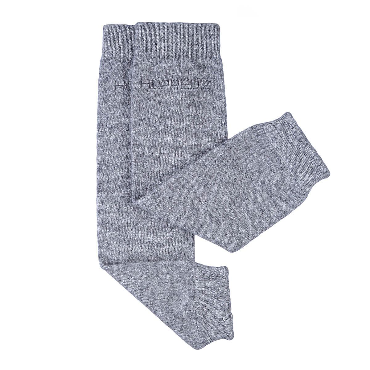 Merino-Babystulpen - uni grau-melange