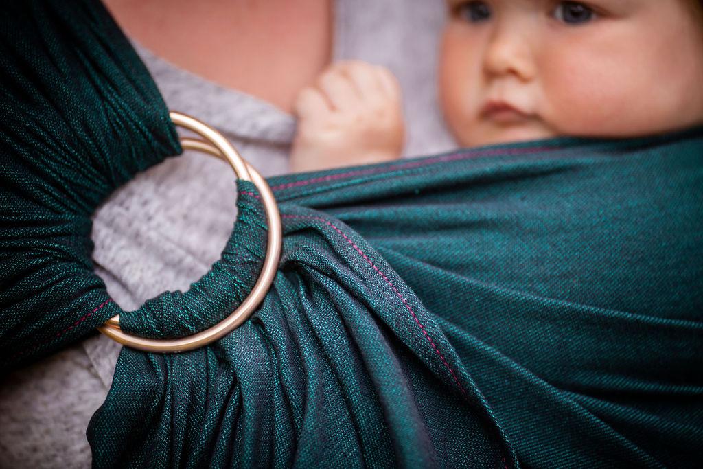 Madame Jordan - Ringsling - pur emerald